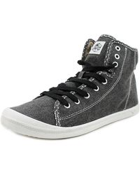 Roxy - Rizzo Women Round Toe Canvas Grey Trainers - Lyst