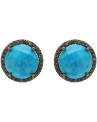 Adornia - Turquoise And Champagne Diamond Echo Earrings - Lyst