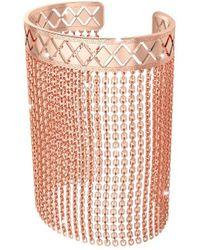 Rebecca - Women's Pink Steel Bracelet - Lyst