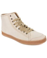 Brunello Cucinelli - Women's Ivory Lace Up Pony Hair Trainers - Lyst