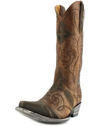 """Old Gringo - Cartagena 13"""" Women Square Toe Leather Brown Western Boot - Lyst"""