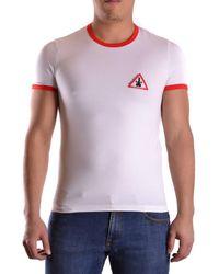 John Galliano - Men's Mcbi130120o White Cotton T-shirt - Lyst