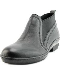 David Tate - Naya Round Toe Leather Bootie - Lyst