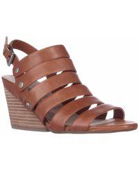 Naya - Lassie Strappy Wedge Sandals - Orange Leather - Lyst