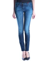 Who*s Who - Women's Blue Cotton Jeans - Lyst