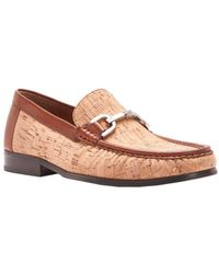 Donald J Pliner - Cork And Antique Calf Leather Loafer - Lyst