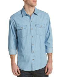 Cutter & Buck - Equinox Denim Woven Shirt - Lyst