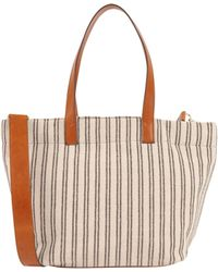 7Chi - Striped Tote With Contrast Strap - Lyst