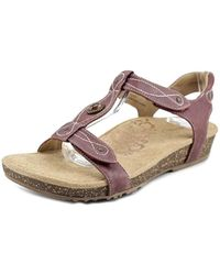 Aetrex - Lori Open-toe Leather Slingback Sandal - Lyst