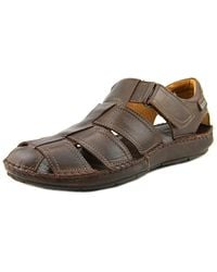 Pikolinos - Tarifa Fisherman Sandal Men Round Toe Leather Brown Fisherman Sandal - Lyst