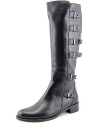 Sesto Meucci - 3107 Women Round Toe Leather Black Knee High Boot - Lyst