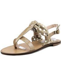 Parentesi - 1133 Women Open Toe Patent Leather Nude Thong Sandal - Lyst
