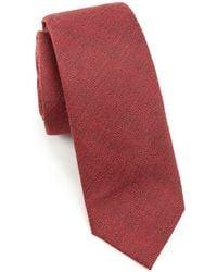 Trafalgar - Modern Textured Wool & Silk Tie - Lyst