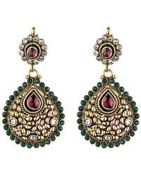 Rosena Sammi - Jewelry Beaded Zorawar Chandelier Earrings - Lyst