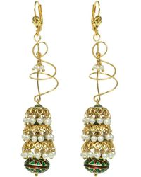 Rosena Sammi - Jewelry Beaded Tri Umbrella Earrings - Lyst