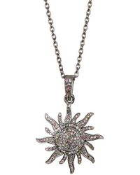 Vanhi - 925 Sterling Silver And Multi Color Tourmaline Sunburst Pendant Necklace In 18 Inch Chain - Lyst