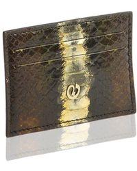 Nada Sawaya - Credit Card Holder Python Talismano Olive - Lyst