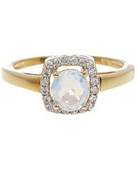 Vanhi - 0.20cts Diamond And Opal Ring In Sterling Silver - Lyst
