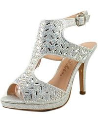 De Blossom Collection - Robin Open Toe Leather Platform Heel - Lyst