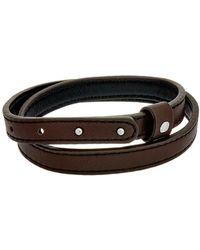 Thompson London - Stainless Steel & Leather Wrap Bracelet - Lyst