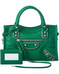 Balenciaga | Classic Holiday Collection Metallic Edge Mini City Leather Shoulder Bag | Lyst