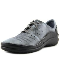 Naot - Kumara Women Round Toe Leather Gray Sneakers - Lyst