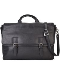 TERRACOMO New York - Aragon Leather Briefcase - Black Vt - Lyst