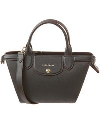 Longchamp - Le Pliage Heritage Small Leather Top Handle - Lyst