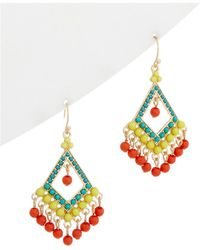 Sparkling Sage   14k Plated Resin Pinata Drop Earrings   Lyst