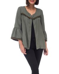 B Collection By Bobeau - Bobeau Jaylin Flute Sleeve Jacket - Lyst