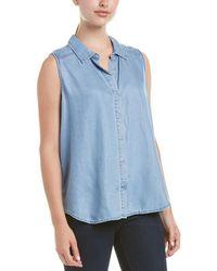 NYDJ - Denim High-low Sleeveless Shirt - Lyst
