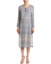 Calypso St. Barth - Calypso Yolani Block Printed Silk Tunic Dress - Lyst