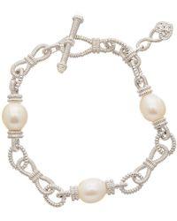 Judith Ripka - Silver 12.79 Ct. Tw. Gemstone & Pearl Bracelet - Lyst