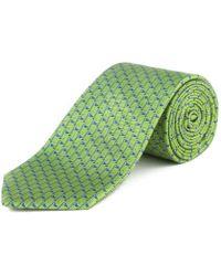 """Ermenegildo Zegna - Men's Silk """"golf Flag"""" Tie Green - Lyst"""