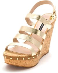 French Connection - Womens Deon Open Toe Casual Platform Sandals - Lyst