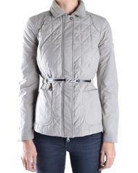 Etiqueta Negra - Women's Grey Polyester Down Jacket - Lyst