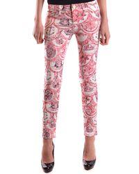 Frankie Morello - Women's Mcbi125049o Red Polyester Jeans - Lyst
