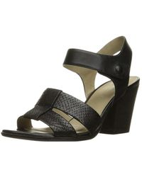 Naturalizer - Womens Yolanda Leather Open Toe Casual Ankle Strap Sandals - Lyst