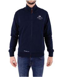 La Martina - Men's Blue Sweatshirt - Lyst