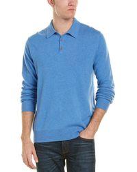 Qi - Cashmere Polo Shirt - Lyst