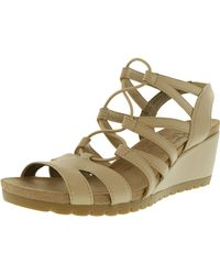 LifeStride - Women's Nadira Faux Leather Natural Leather Sandal - 9m - Lyst