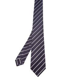 Kiton - Men's Purple Silk Tie - Lyst