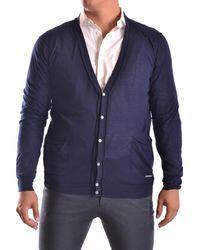 CoSTUME NATIONAL - Men's Mcbi074065o Blue Cotton Cardigan - Lyst