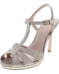 Kate Spade - Womens Feodora Glitter Peep Toe Platform Heels - Lyst