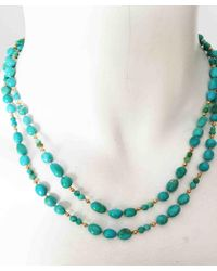 Blue Candy Jewelry - Turquoise Gold Knotted Necklace - Lyst