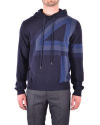 Dirk Bikkembergs - Men's Blue Wool Sweatshirt - Lyst