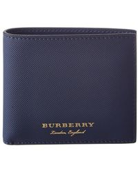 Burberry - Trench Leather International Bifold Wallet - Lyst