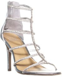 Material Girl - Mg35 Raissa Strappy Bejeweled Dress Sandals, Silver - Lyst