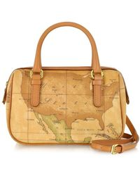 Alviero Martini 1A Classe - 1a Prima Classe - Geo Printed Mini ''new Basic'' Satchel Bag - Lyst