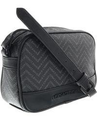Versace | Ee1yobb55 Emaq Black/grey Mens Messenger Bag | Lyst